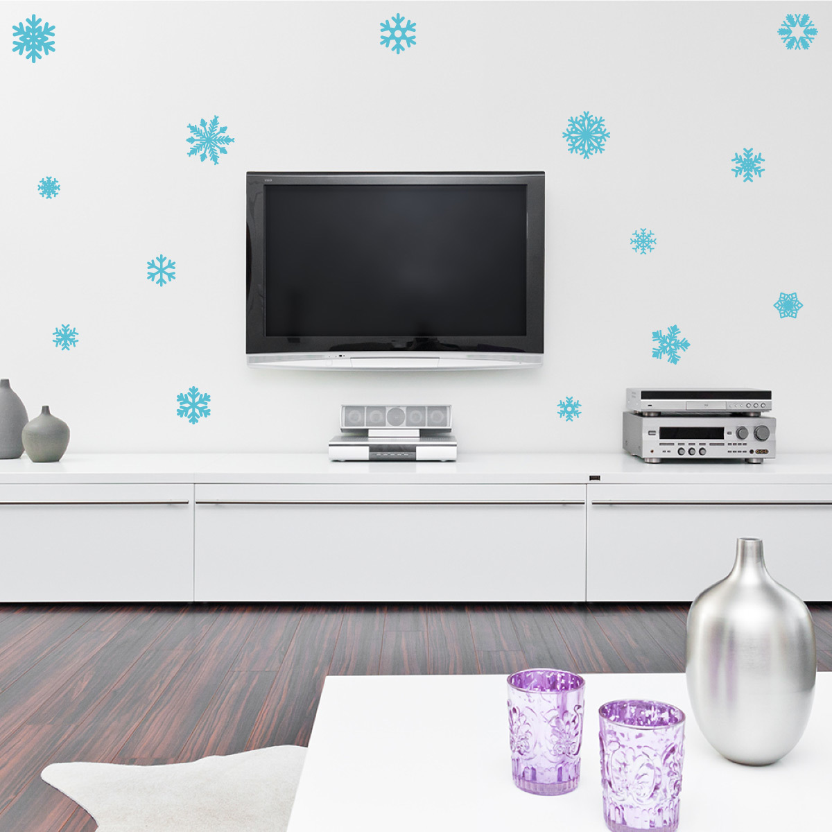 snowflake wall decal
